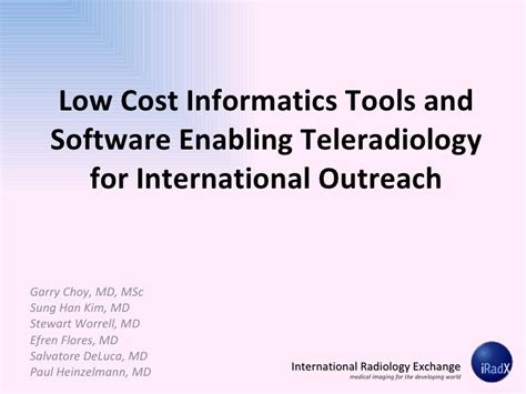 Mba Exchange Cost by International Radiology Exchange Low Cost Informatics