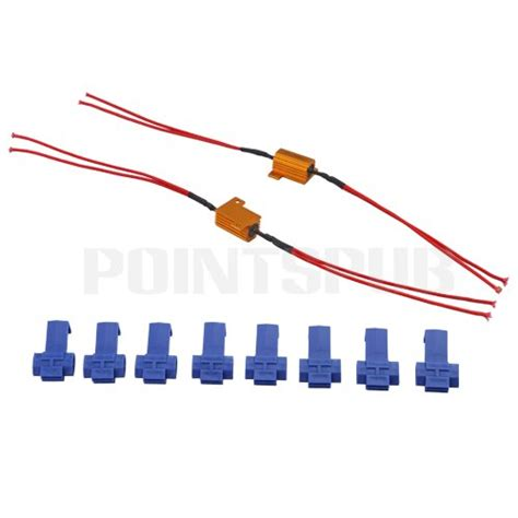 led resistor wattage 2x 25w led indicator turn signals load resistors led techparts
