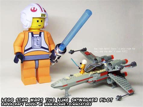 X Wing Papercraft - papercraft lego x wing 7140 minifig luke by