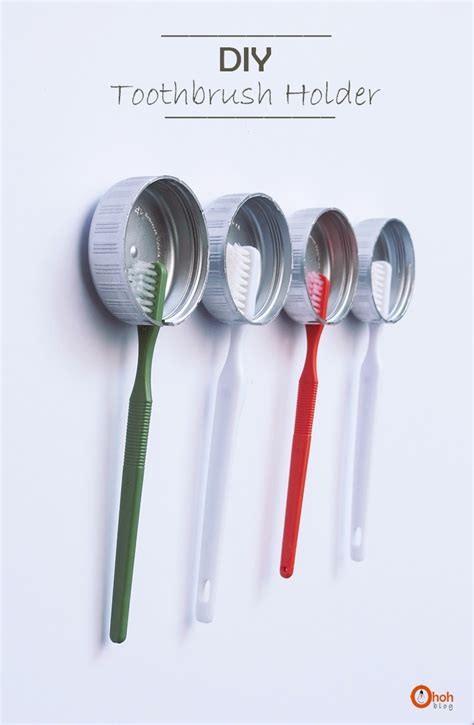 How To Make A Toothbrush Out Of Paper - 20 bathroom organization projects ideas