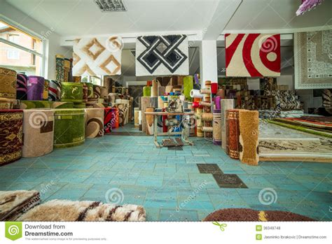 rug shops rolled rugs inside a rug store stock photo image 36349748