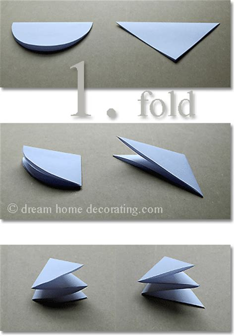 Paper Folding Cutting - easy paper snowflake
