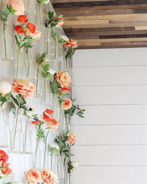Test Tube Flower Vases Decorating With Hanging Flower Vases Home Decor