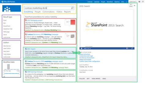 introducing sharepoint 2013 search result types and