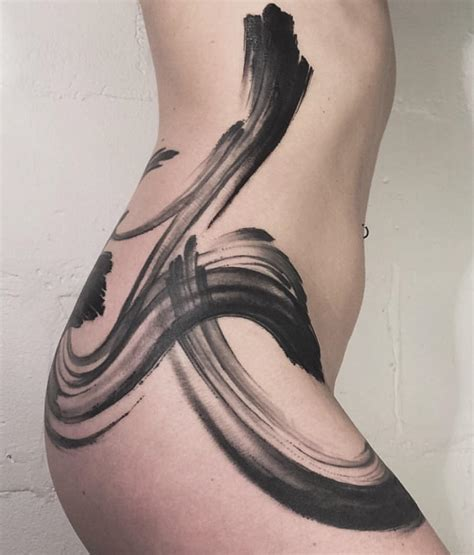 side hip tattoo side and hip brushwork best ideas gallery