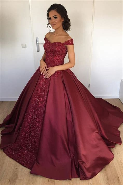 burgundy color prom dress burgundy gown 2018 prom cocopromdress