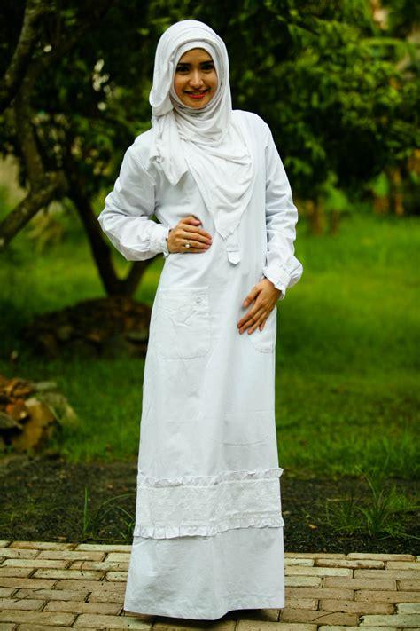Baju Gamis Putih Nibras Nb 45 gamis nibras nb 45 softaya pusat baju