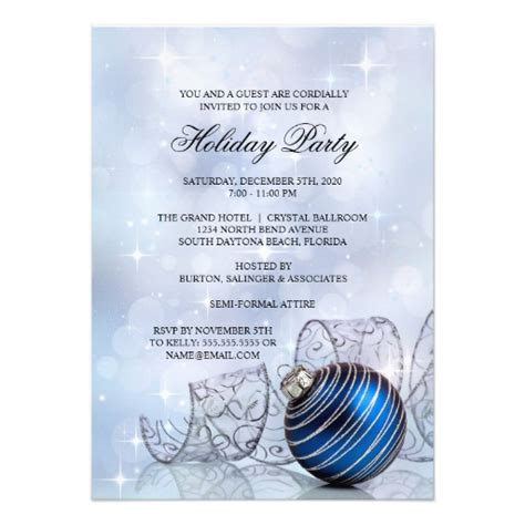 corporate holiday party invitation templates 4 5 quot x 6 25
