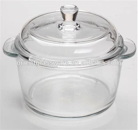 topf aus glas high quality borosilicate clear pyrex glass cooking pot