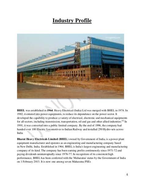 Mba Internships Equity by Maaz Arif Mba Ib Bhel Internship Report