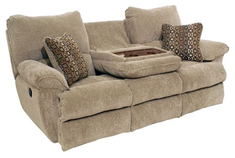 reclining sofa with console reclining console sofa abilene recliner leather sofa w