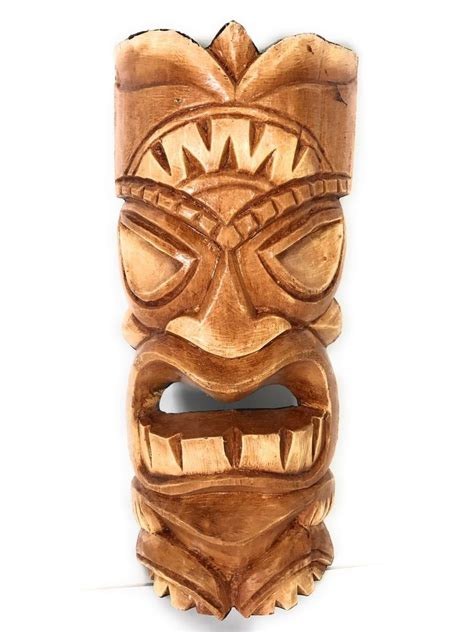 Tiki L by Carved Tiki Mask 12 Quot Tiki Hawaii Decor Ebay