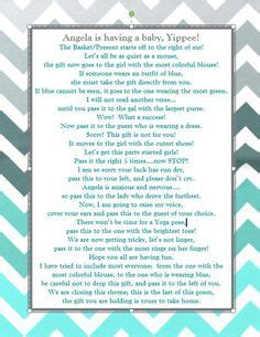 Pass The Prize Baby Shower Poem by Pass The Prize Baby Shower Search By Laurie