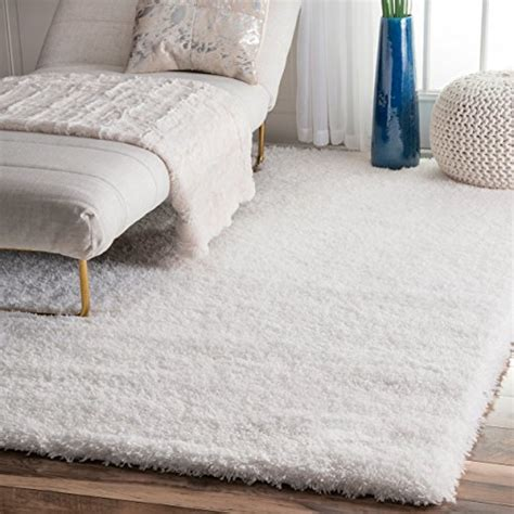 Soft Plush Area Rugs Nuloom Soft Plush Nursery Solid Shag Area Rug 5 3 Quot X 7 6 Quot Snow White Home Decor
