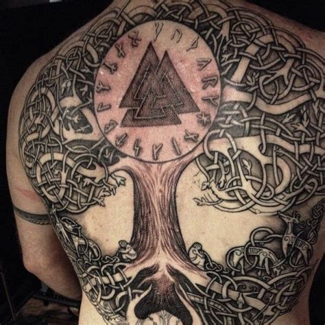 norse tattoo pinterest norse tree tattoo norse tree of life in progress