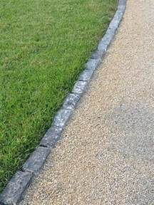edging for gravel driveway outdoor design pinterest