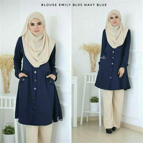 blouse muslimah raya blouse muslimah crepe blouse emily