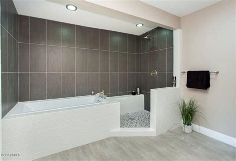 modern bathroom shower ideas contemporary master bathroom with drop in bathtub
