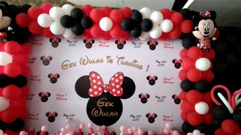 Sendok Anak Minnie Mouse dekorasi balon tema minimouse