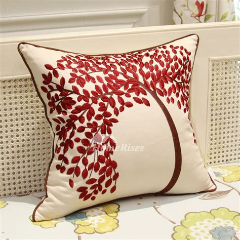 throw pillows for burgundy sofa country tree linen couch burgundy and white throw pillows