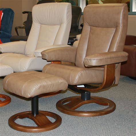 Recliners And Ottomans by Large Hjellegjerde Scansit 110 Cappuccino Leather