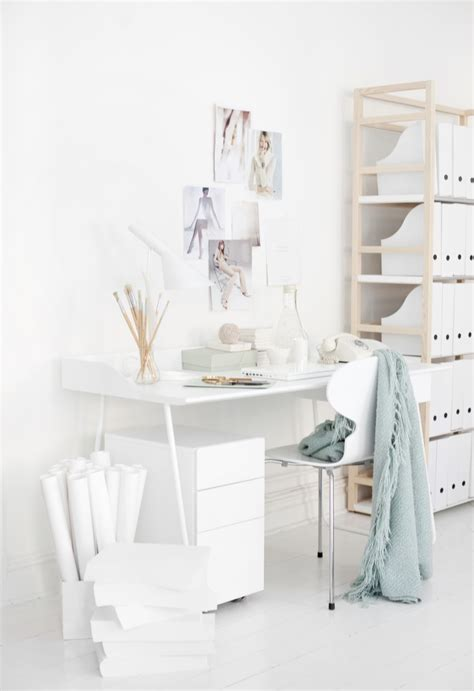 white home office my scandinavian home a beautiful office in white and