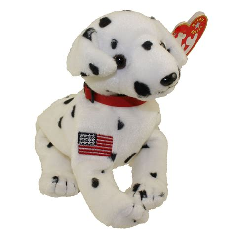 stuffed dalmatian puppy ty beanie baby rescue the fdny dalmatian 5 5 inch mwmts stuffed animal ebay