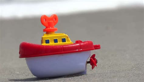 toy boat for beach free toy boat on beach stock video footage vidsplay
