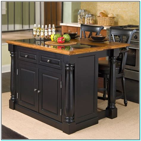 portable kitchen island with storage and seating