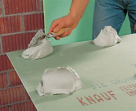 Rigipsplatten Kleben Decke gipskartonplatten kleben statt verputzen bauen de