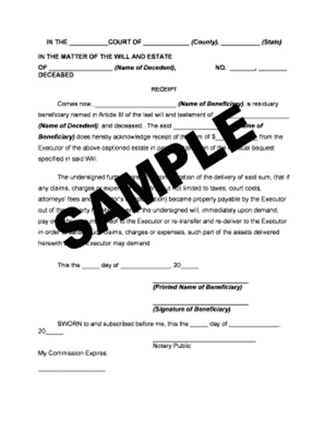 llc distribution receipts template indemnity agreement real estate forms and templates