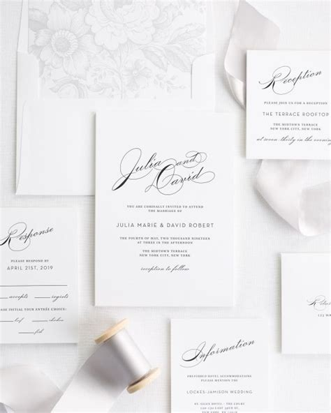 platinum wedding invitations simple wedding invitation package with tammy swales photography wedding invitations