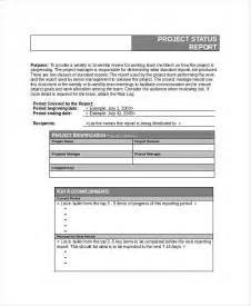Project Report Word Template by 6 Project Status Templates Free Word Pdf Documents