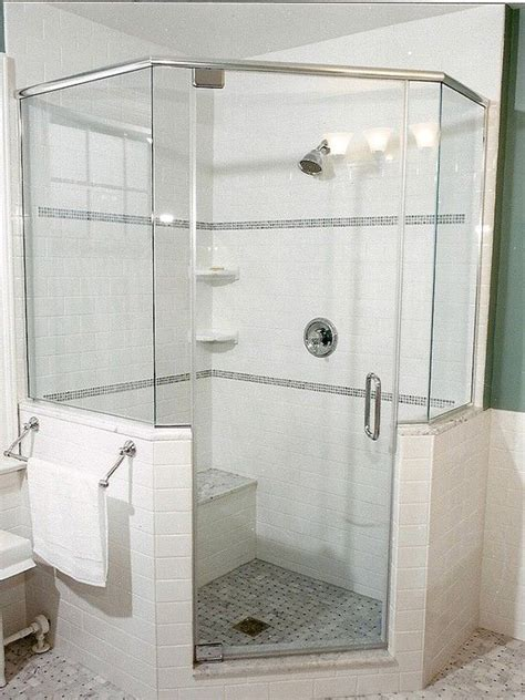 Glass Shower Half Wall by Pin By Wendy K On Bathroom Ideas