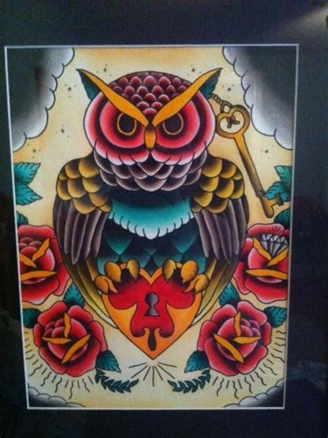 traditional owl tattoo designs elaxsir