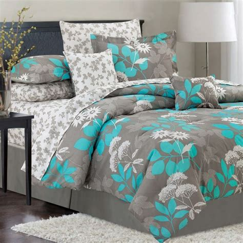 grey teal bedding for the home pinterest