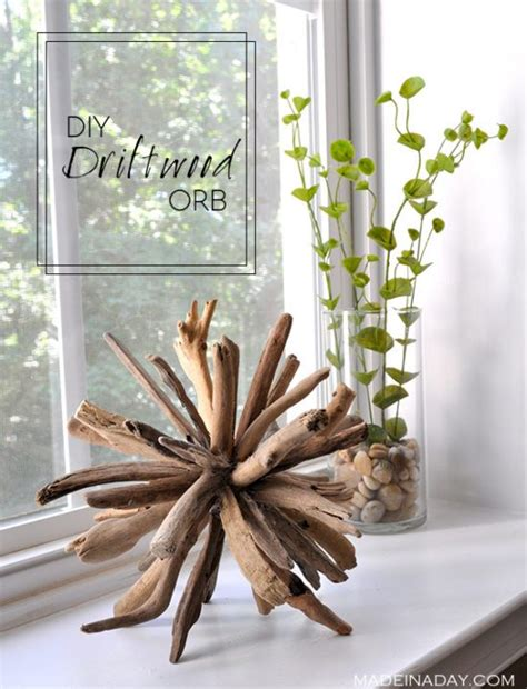Useful Handmade Crafts - fill your home with 45 delicate diy driftwood crafts