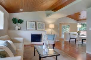 Wood Ceiling Designs Living Room Beautiful Wood Ceiling Modern Living Room Seattle By Lucas Design