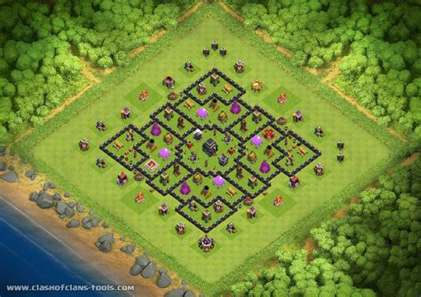 hybrid layout meaning coc hybrid th9 hybrid base by alishah67 clash of clans