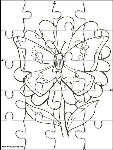 printable jigsaw puzzles to colour printable jigsaw puzzles to cut out for kids animals 115