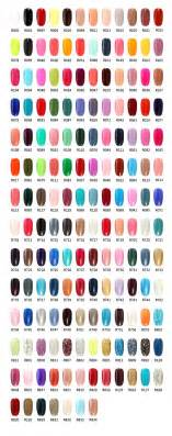 r s nail brand gel polish color chart nail colors