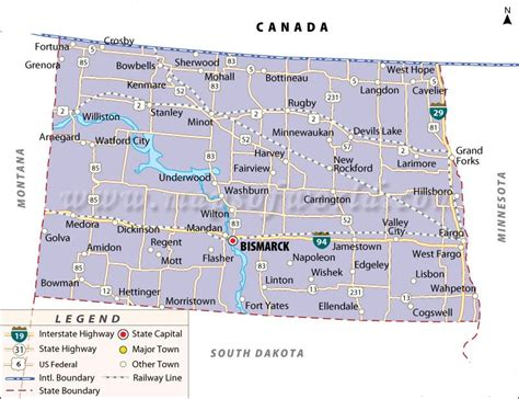 map of dakota map of dakota state map of usa