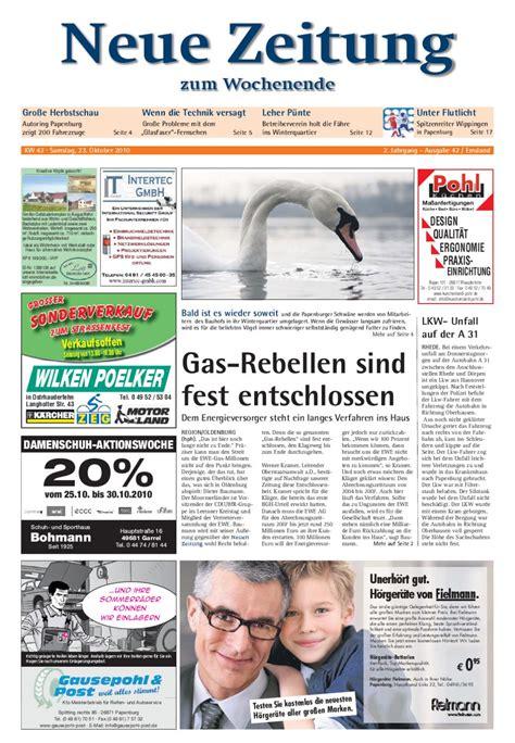 mã bel albers papenburg shop neue zeitung ausgabe emsland kw 42 by gerhard verlag