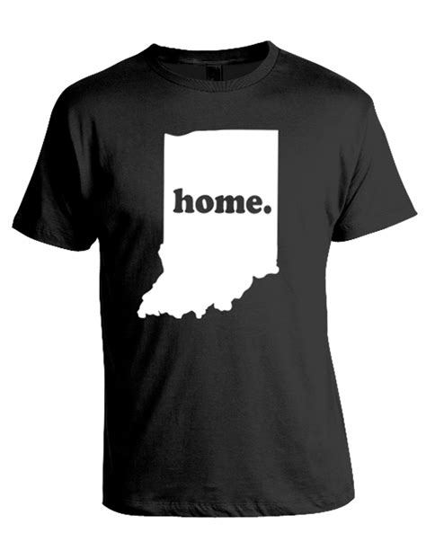 Home Tshirt indiana home t shirt t shirts design concept