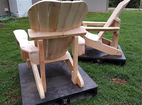 Handmade Adirondack Chairs - unfinished pallet adirondack chairs for garden 101 pallets