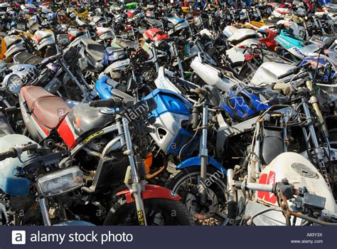 Motorrad Schrottplatz Frankfurt by Motorcycle Scrapyard Stock Photo 11979229 Alamy