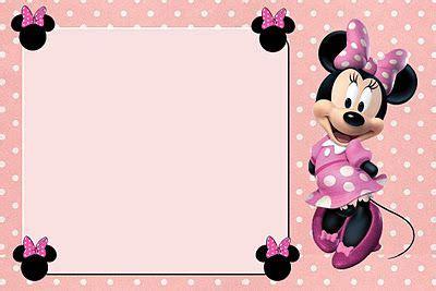 imagenes en blanco para editar tarjetas para imprimir gratis de minnie mouse en rosa