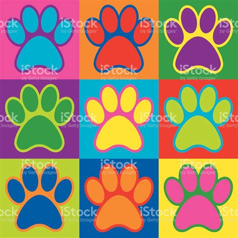 pop art basic art pop art paws stock vector art more images of 1960 1969 464553920 istock