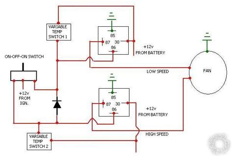 2 speed cooling fan wiring diagram efcaviation