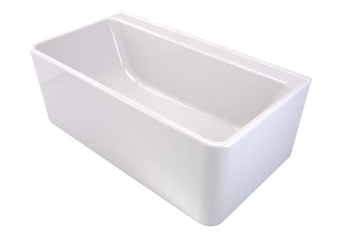 caroma bathtubs product news caroma cube back to wall freestanding bath